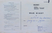PoW Camp 218 Aldershot Move - War Diary